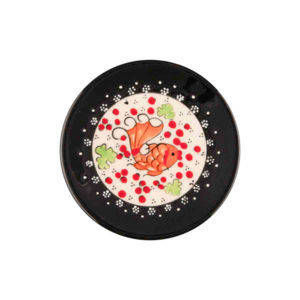 keramikteller schwarz cm