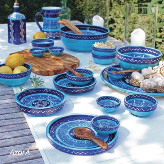 Blaue Keramik aus spanien serie azora