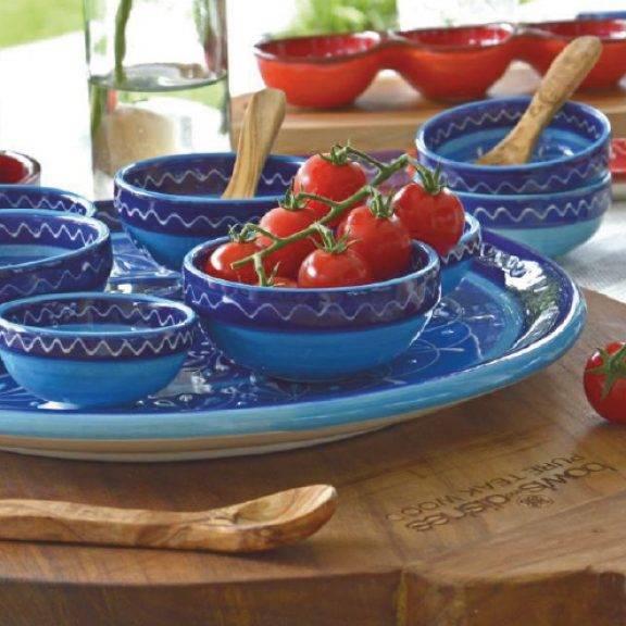 handgefertigte schalen und teller aus keramik