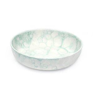 handgefertigte keramikschale 23cm mint