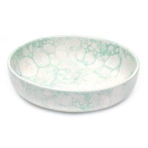 handgefertigte keramikschale 27cm mint