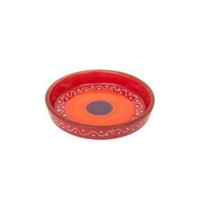 keramik tapasteller mit rand rot 15cm