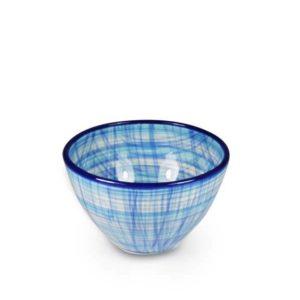 keramikschale mit muster 12cm blau