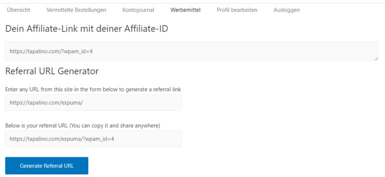 Affiliate Link Generator