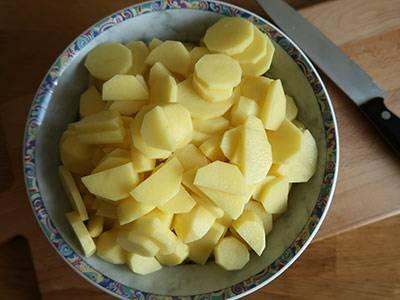 kartoffel schneiden