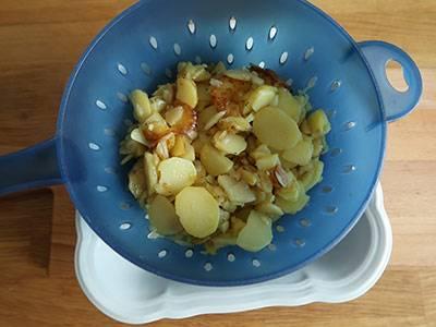 kartoffelmasse abtropfen