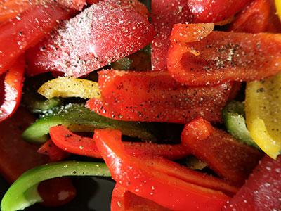 .pimientos fritos paprika braten