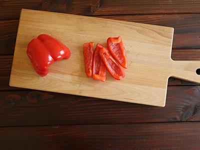 .pimientos fritos paprika schneiden