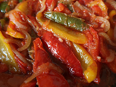 pimientos fritos paprika braten