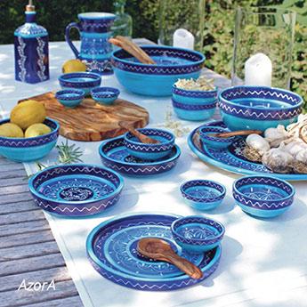 blaue keramik aus spanien serie azora start