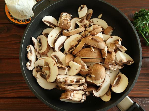 kaese pilze aufstrich vorbereiten